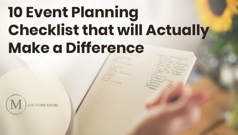 10 Event Planning Checklist that will Actually make a Difference